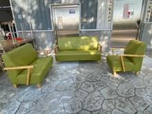[95成新] 吉田二手傢俱❤1+2+3皮沙發組多件沙發組近乎全新