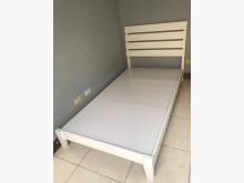 [9成新] 實木單人床架,白色單人床架無破損有使用痕跡