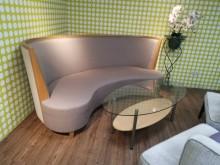 [9成新] 北歐設計職人手作腰子沙發不含茶几雙人沙發無破損有使用痕跡