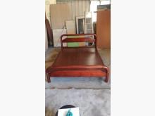 [9成新] 【尚典】紅柚色5呎傳統床架雙人床架無破損有使用痕跡