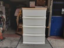 [8成新] 連欣二手傢俱-四抽收納櫃塑膠製收納櫃有輕微破損