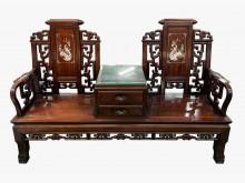[9成新] 花梨木雙抽椅其它桌椅無破損有使用痕跡