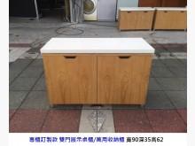 [8成新] 雙門收納萬用櫃 矮櫃 展示桌有輕微破損