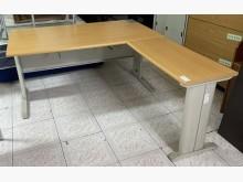 [8成新] 三合二手物流(L型木紋辦公桌)辦公桌有輕微破損