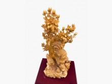 [95成新] R121801*雕刻木藝品擺飾近乎全新