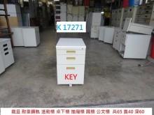 [8成新] K17271 活動櫃 桌下櫃辦公櫥櫃有輕微破損