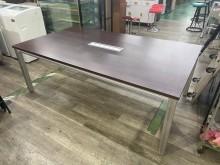 吉田二手傢俱❤6尺胡桃會議桌會議桌無破損有使用痕跡