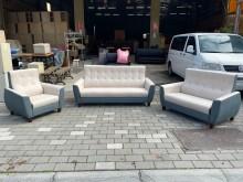 [全新] 新品凱特米白配燕藍3+2+1沙發多件沙發組全新