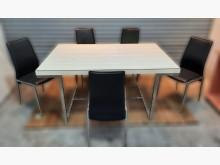 [8成新] 白色餐桌椅組(一桌五椅)餐桌椅組有輕微破損