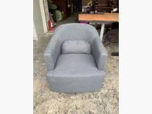 [9成新] 香榭*經典灰色亞麻布 單人沙發椅單人沙發無破損有使用痕跡