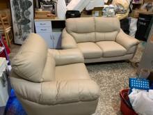 [9成新] 二手真皮沙發 2+1人多件沙發組無破損有使用痕跡