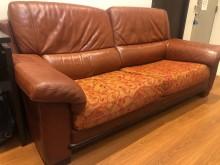 [8成新] 3人真皮沙發 (寬205cm)多件沙發組有輕微破損