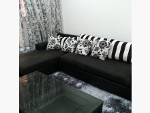 [9成新] 黑色大器lL型可拆洗賣屋隨便賣L型沙發無破損有使用痕跡