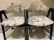 [95成新] 二手鐵架椅子,9成新書桌/椅近乎全新