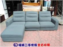 [9成新] 權威二手傢俱/L型功能貓抓布沙發L型沙發無破損有使用痕跡