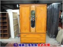 [9成新] 權威二手傢俱/檜木早期雕刻大衣櫃櫥/櫃無破損有使用痕跡
