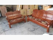 [9成新] 九成新樟木實木2+3木沙發組木製沙發無破損有使用痕跡