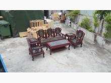 合運二手傢俱大理石面木沙發+茶几木製沙發有輕微破損
