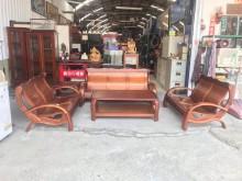 [9成新] 2+2+3+大小茶几 木椅組木製沙發無破損有使用痕跡