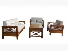 [9成新] TK12401*柚木123+茶几木製沙發無破損有使用痕跡