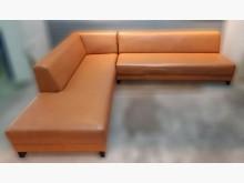 [8成新] A0122GJJ 橘色L型沙發L型沙發有輕微破損