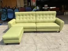 [全新] 新品水雲端蘋果綠貓抓皮L型沙發L型沙發全新