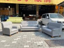 [全新] 花仙子淺灰3+2+1貓抓皮沙發組多件沙發組全新