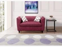 [全新] 蘇姍紅色雙人布沙發椅 桃園區免運雙人沙發全新