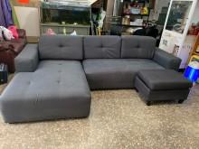 [9成新] 二手L型布沙發 可拆洗 三重二手L型沙發無破損有使用痕跡