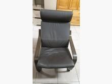 [9成新] 牛皮實木單人座椅組單人沙發無破損有使用痕跡