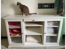 [8成新] IKEA 白色邊櫃、收納櫃收納櫃有輕微破損