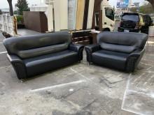 [9成新] 黑色2+3皮革沙發*客廳沙發多件沙發組無破損有使用痕跡