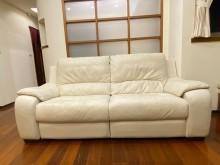 [8成新] 三人真皮沙發雙人沙發有輕微破損