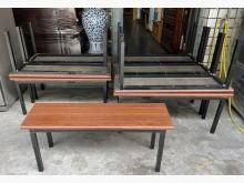 [8成新] 三合二手物流(雙人板凳椅)餐椅有輕微破損