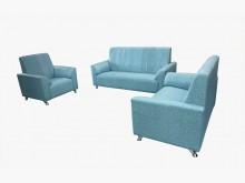 [全新] 全新巧達123貓抓皮沙發(天藍)多件沙發組全新