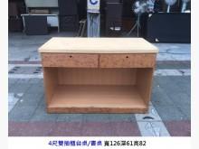 [8成新] 雙抽書桌 櫃台桌 電腦桌 辦公桌書桌/椅有輕微破損