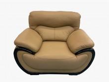 [9成新] A30821*半牛皮單人沙發*單人沙發無破損有使用痕跡