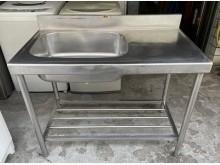 三合二手物流(白鐵洗手台)流理台無破損有使用痕跡