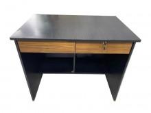 [95成新] E22108*黑色二抽書桌書桌/椅近乎全新