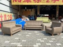 [全新] 賓利卡其色3+2+1貓抓皮沙發多件沙發組全新