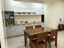 [9成新] 新麗屋柚木餐桌(含玻璃)+餐椅茶几無破損有使用痕跡