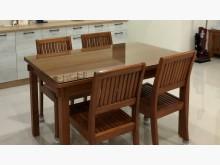 [9成新] 新麗屋柚木500餐桌+餐桌椅*4茶几無破損有使用痕跡