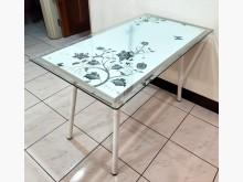 [7成新及以下] 二手白色餐桌附面玻 桃園區免運費餐桌有明顯破損