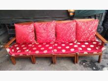 [9成新] 松木色組合四人座木椅木製沙發無破損有使用痕跡