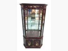 [8成新] RW2266*紅木鑲貝展示櫃*其它櫥櫃有輕微破損