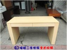 [9成新] 權威傢俱/4.3尺白橡二抽書桌書桌/椅無破損有使用痕跡