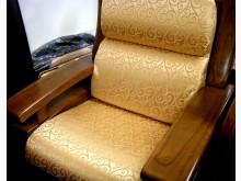[全新] 金黃色緹花布椅墊 購滿7片免運費木製沙發全新