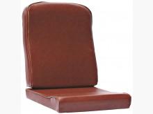 [全新] 褐紋皮單人小組椅墊 滿7片免運費木製沙發全新