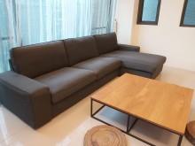 [9成新] 簡約大方L型沙發無破損有使用痕跡