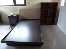 [9成新] 單人4尺床架,具完全收納功能。單人床架無破損有使用痕跡